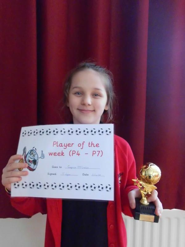 Primary 4-7 Footballer of the Week